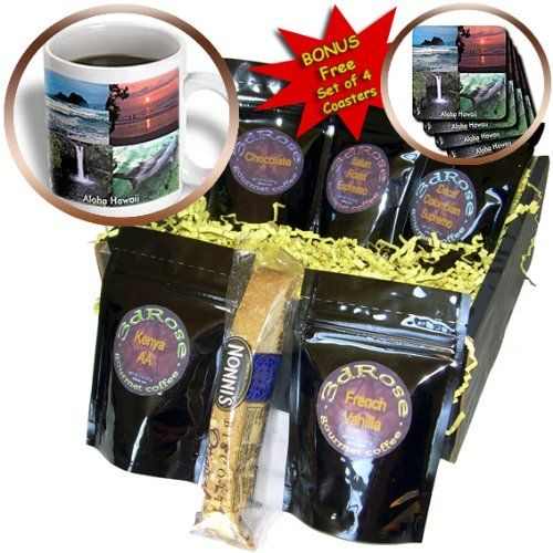 cgb_6072_1 Sandy Mertens Hawaii Travel Designs - Hawaiian Collection - Coffee Gift Baskets - Coffee Gift Basket - http://mygourmetgifts.com/cgb_6072_1-sandy-mertens-hawaii-travel-designs-hawaiian-collection-coffee-gift-baskets-coffee-gift-basket/