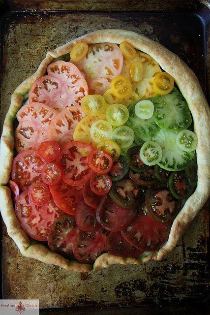 Heirloom Tomato Pizza