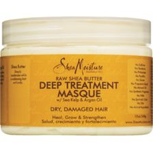 Shea Moisture Raw Shea Butter Deep Treatment Masque | I hadn't used this masque for years. It didn't have much slip or moisture as a masque. Due to a BOGO free, I decided to revisit this one as a curl cream/styler. When the air is moist, this masque provides good moisture and shine as a curl cream, but still, no slip. The scent still isn't a favorite, but dissipates. Note to self: Don't revisit this one again because the air just isn't that moist in my climate.