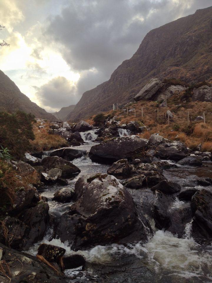 Gap in mountains Kerry Ireland by Adrian Glasgow