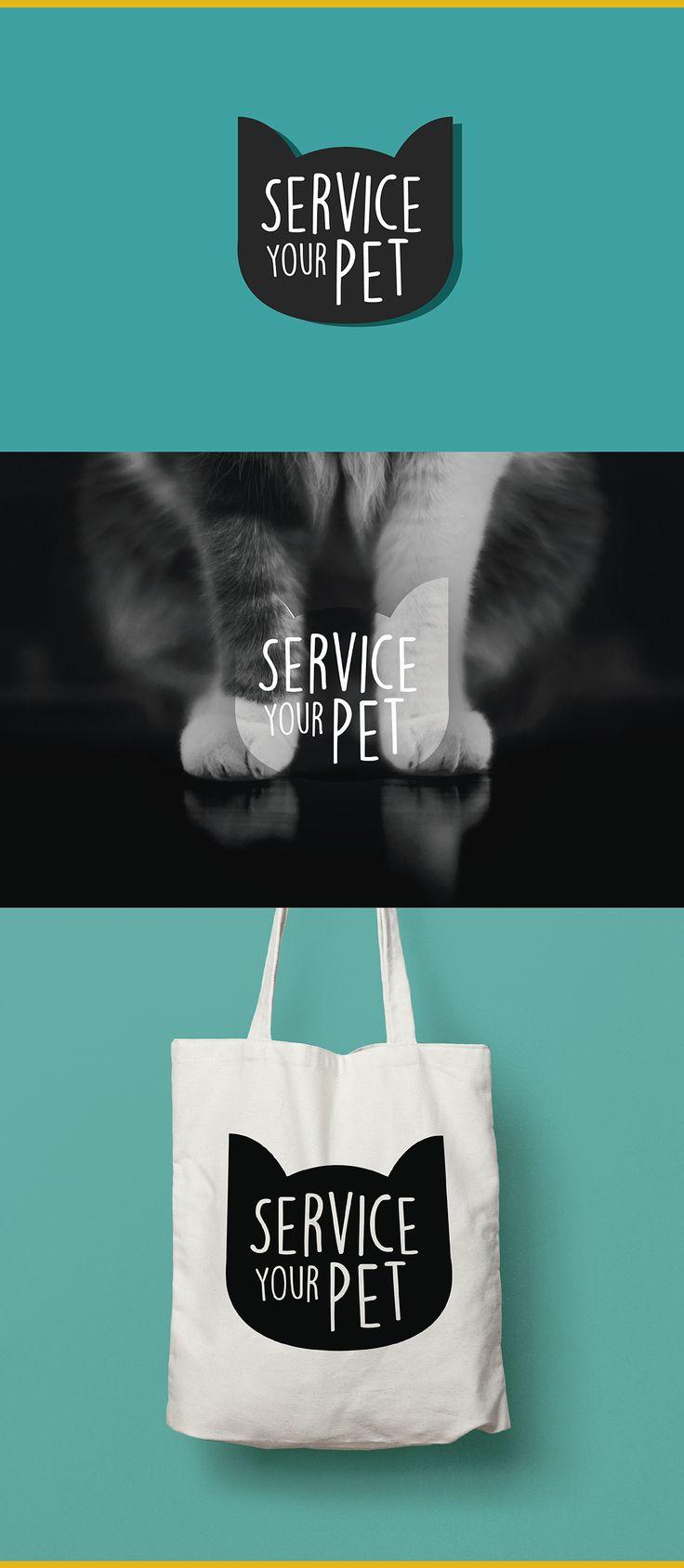 Service Your Pet, Logo proposal on Behance, cat logo, good logo, awesome design