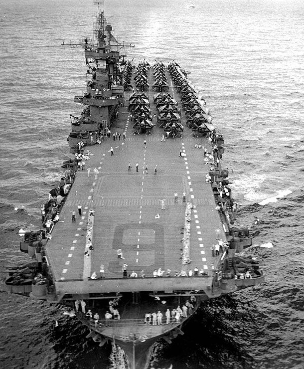 """My father was on the Commissioning crew of this one (U.S.S. Enterprise CV 6) and the new one (U.S.S. Enterprise CV-N 65). They called members of the commissioning crew """"Plank Owners."""""""
