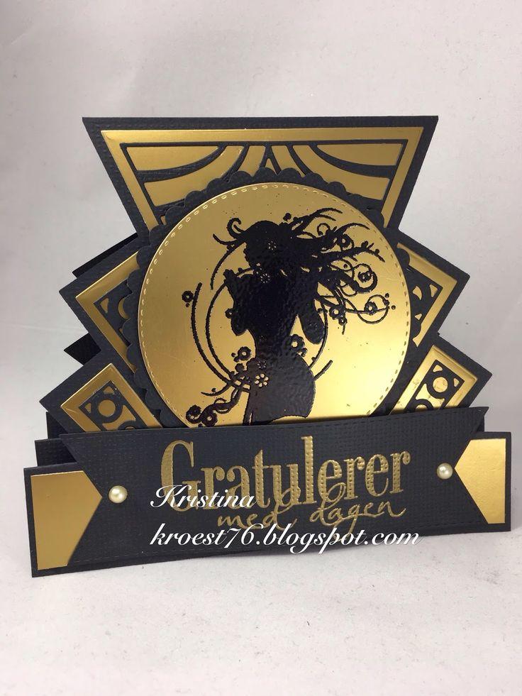 Art Deco stepper card, Tattered Lace, North Star Design og engros, North Star Stamps