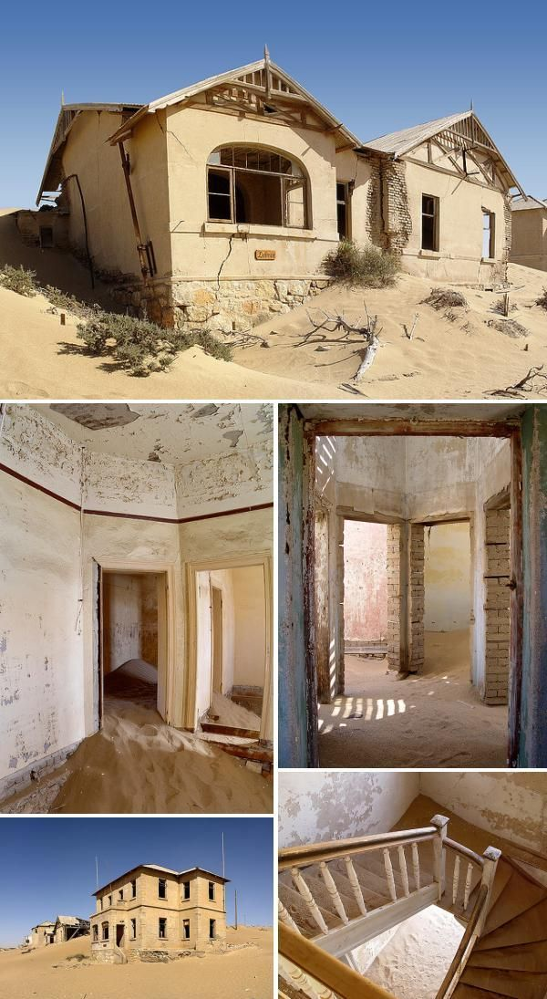 Africa, especially countries like Namibia, is home to many ghost towns and abandoned cities including Grand-Bassam, Paoua, Kolmanskop and Luderitz.