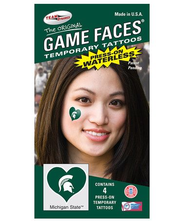 Take a look at this Michigan State Heart Temporary Tattoo Set by Game Faces on #zulily today!