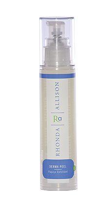 Rhonda Allison Derma Peel - A gentle enzyme for skin types. $45  www.pristineclinicalskincare.com