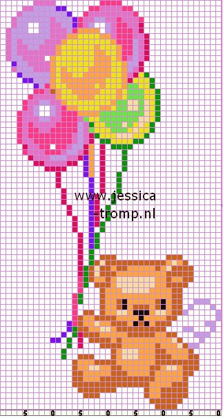157 Free cross stitch balloons designs bags stitchingcharts ballonnen borduren gratis borduurpatronen tassen kruissteekpatronen