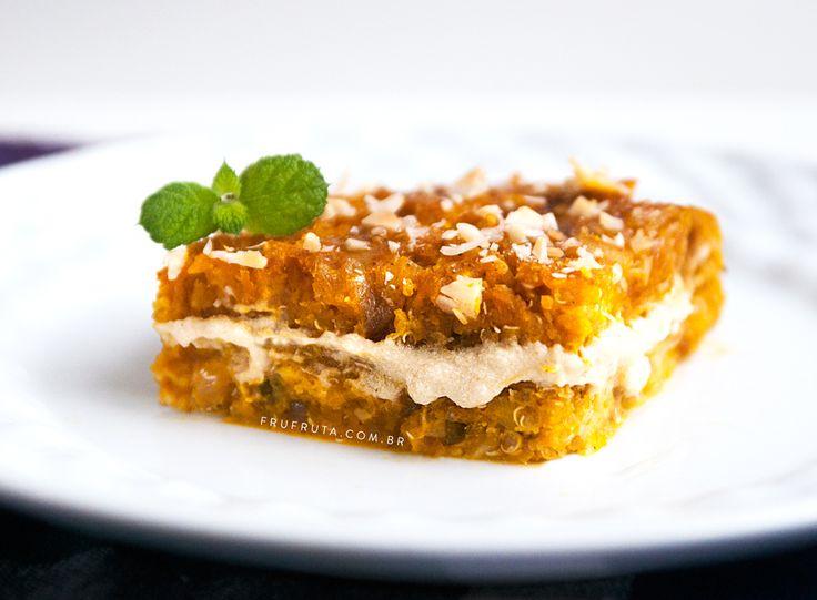 Quibe de Abóbora Recheado com Homus - Versão vegana e nutritiva do prato árabe! | Sem Lactose, Sem Glúten, Sem Ovo | Receita | Video | Fru-fruta