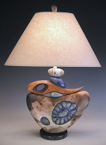 Not for Naught by Jan Jacque: Ceramic Table Lamp available at www.artfulhome.com