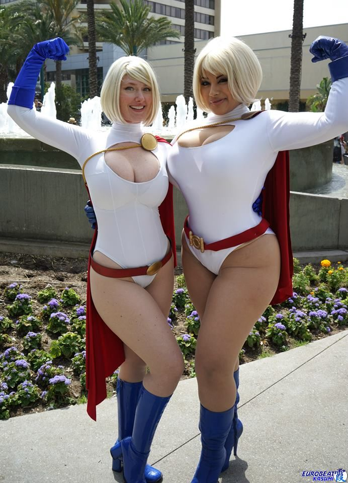 Angie griffin cosplays power girl
