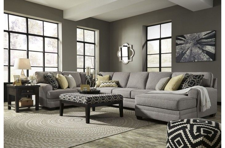 Cresson Pewter RAF Chaise Sectional from Ashley