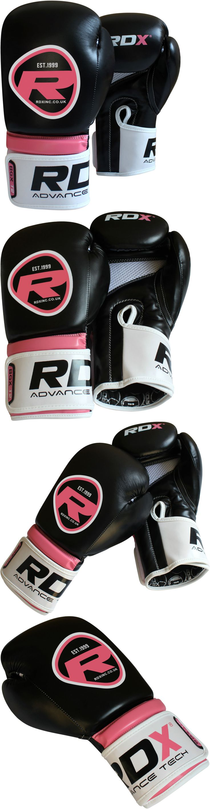 Ebay uk leather work gloves - Gloves Martial Arts 97042 Rdx Boxing Gloves Women Pink Ladies Training Glove Mitts Muay