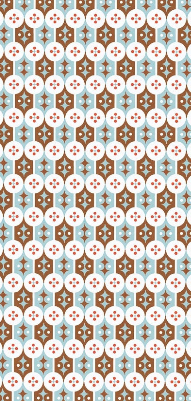 Je ziet ook een duidelijk maar ingewikkeld ritme in dit patroon, dat maakt het patroon erg dynamisch