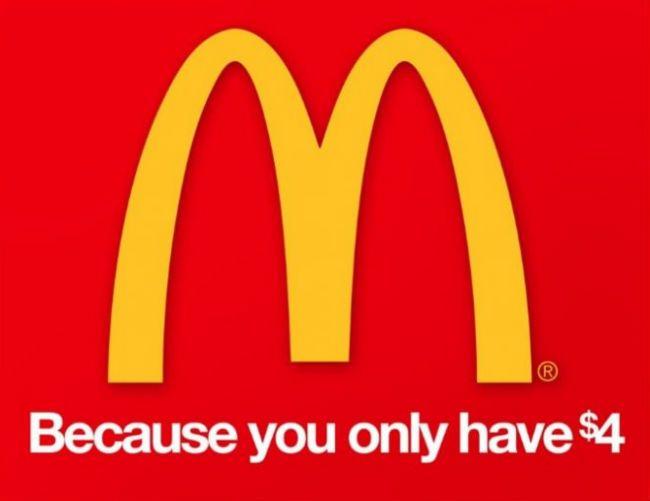 McDonald's. Brutally Honest Brand Name Slogans – BoredBug