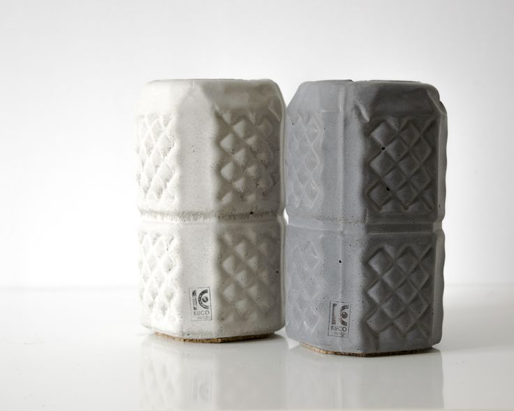 Wonderful concreate pencil holder with unique pattern for your interior