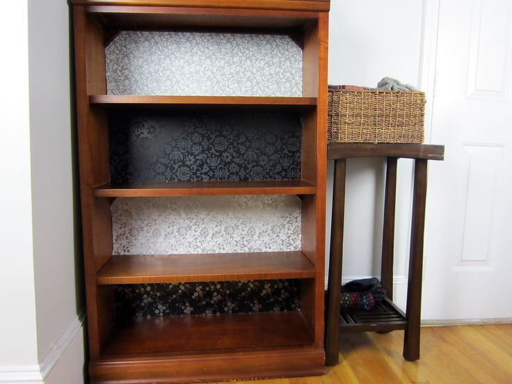 Style Your Own Vintage Bookshelf With This Clever Design Project That Uses  A Medley Of Fablon Peel And Stick Liners. From Florals To Damasks, ...