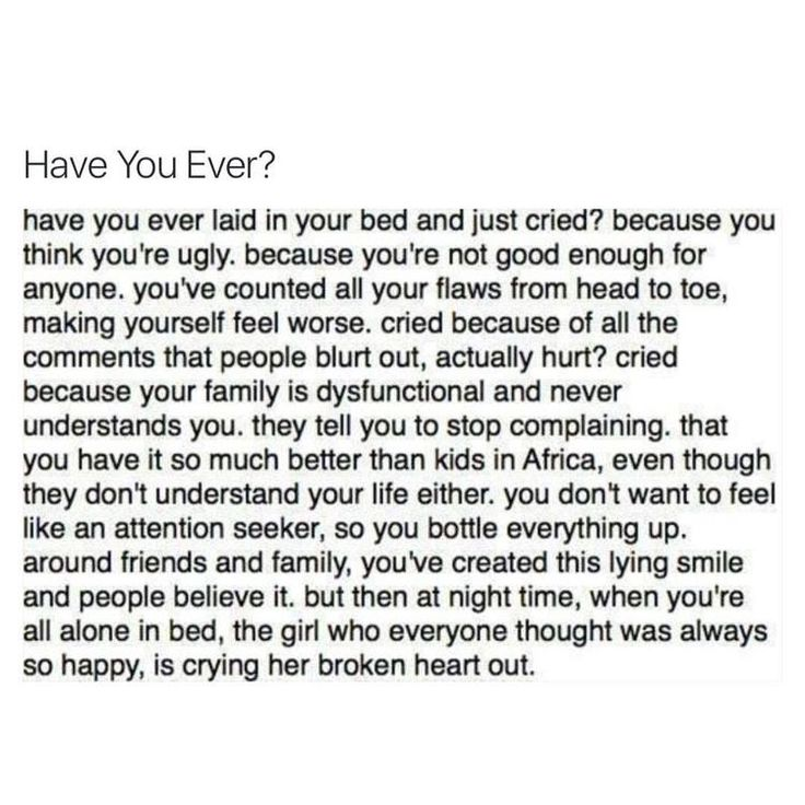 Yes I have  And it sucks that no one understand this kind of pain!
