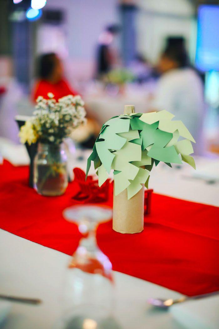Paper palm tree from a Pokemon Beach Birthday Party on Kara's Party Ideas | KarasPartyIdeas.com (23)