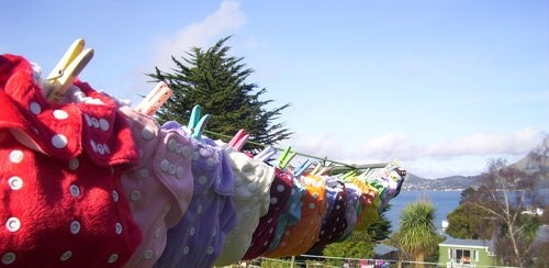 All my lovely dinky nappies on the line :)