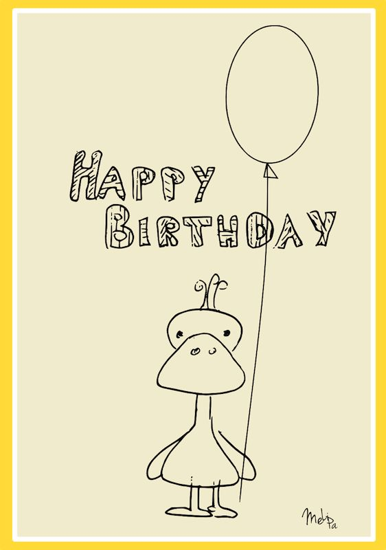 Birthday Cards Printable L Dessincoloriage – Happy Birthday Cards Printable