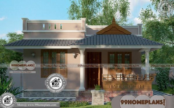 Simple Ground Floor House Plan With Kerala Traditional Style Homes House Outer Design 2bhk House Plan Small House Design