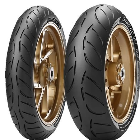 Metzeler SPORTEC M7 RR Tires. *Engineered with Key Riders and Teams of the Tourist Trophy (TT), at Prestigious Races such as the Isle of Man TT*