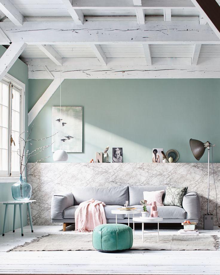 Die besten 25+ Wandfarbe mint Ideen auf Pinterest Türkises - wohnzimmer wandfarbe grau