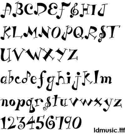 What a cute font!  Perfect for use with a music craft.