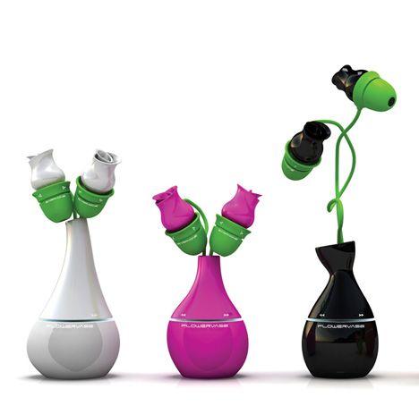 Flower Vase MP3 Player by Won-Ho Son & Joong-Ho Choi » Yanko Design