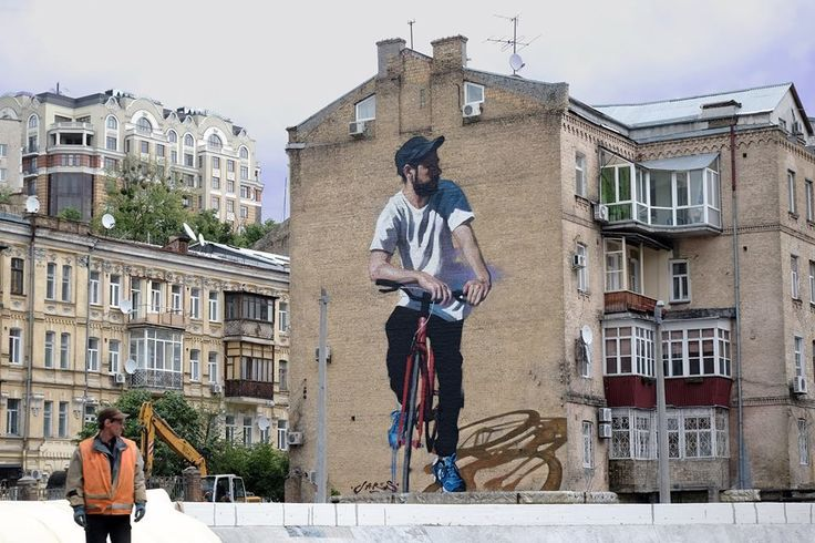 #jarus #artstreet #paint #painter #wollongong_australia #penang #malaisie #ukraine #kiev #ucraine #artist #artiste #peinture_murale #peinture #vélo #bicycle #girl #asian #asiatique #kiev_ukraine #noipic