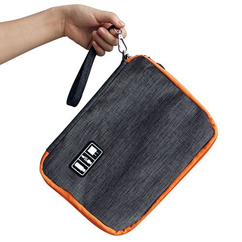 Acetend-X Electronic Travel Organizer,Travel Universal Cable Organizer Electronics Accessories Cases/USB Cable Organizer Bag  DOUBLE LAYER --Size:11×7.9×2inches.First floorcables, flash drive, charge, pen, DS/3DS games, passport, GPS, mini cameras, smartphone or any other accessories that fit. Second floor : Portable battery;Phone;Notebook And iPad 1, 2, 3, 4(9.7-inch), iPad Mini(7.9-inch), iPad Air(9.7-inch) or other pads up with 10 inch  DAMPPROOF AND FALLING PREVENTION--Durable and ...