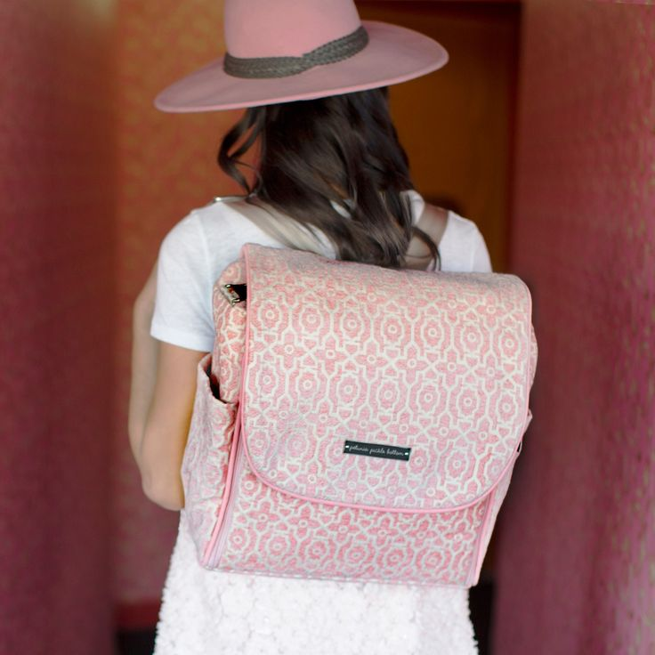 Petunia Pickle Bottom Diaper Bag Boxy Backpack Chenille Sweet Rose #laylagrayce