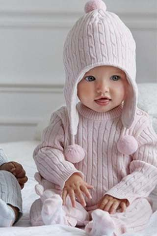 Elegant Cotton Knit Hat
