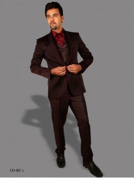 Wine Color Mens Suit