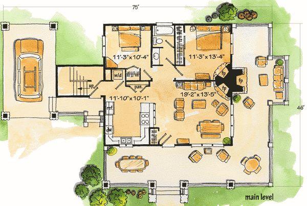 1105 Best Planos De Casas Peque As Images On Pinterest