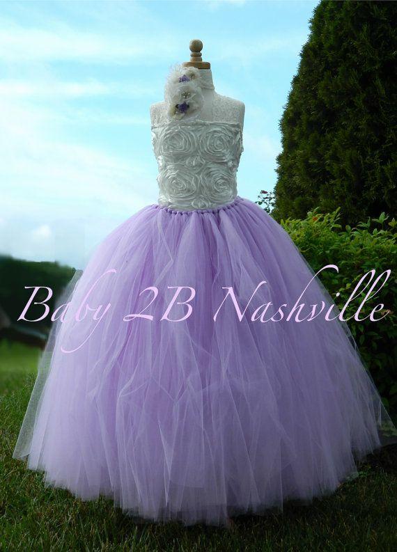 Wedding Flower Girl  Dress in Lilac...  Delish!