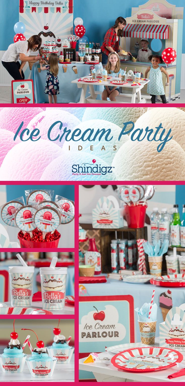 Create the ultimate summer ice cream party with supplier from Shindigz!