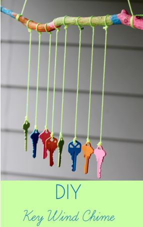 Wind chime from old keys by giving.innerchildfun.com, featured @totgreencrafts
