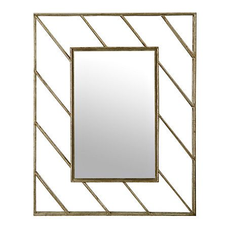 Linear Lines Metal Wall Mirror | Kirklands