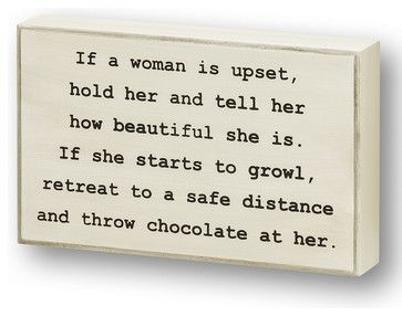 'If a Woman is Upset' Wall Sign modern-novelty-signs