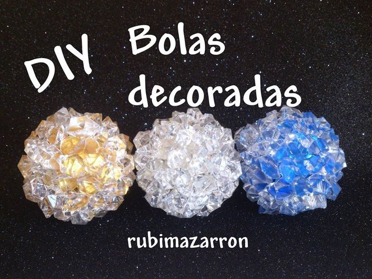 Diy. Bolas recicladas y decoradas para navidad
