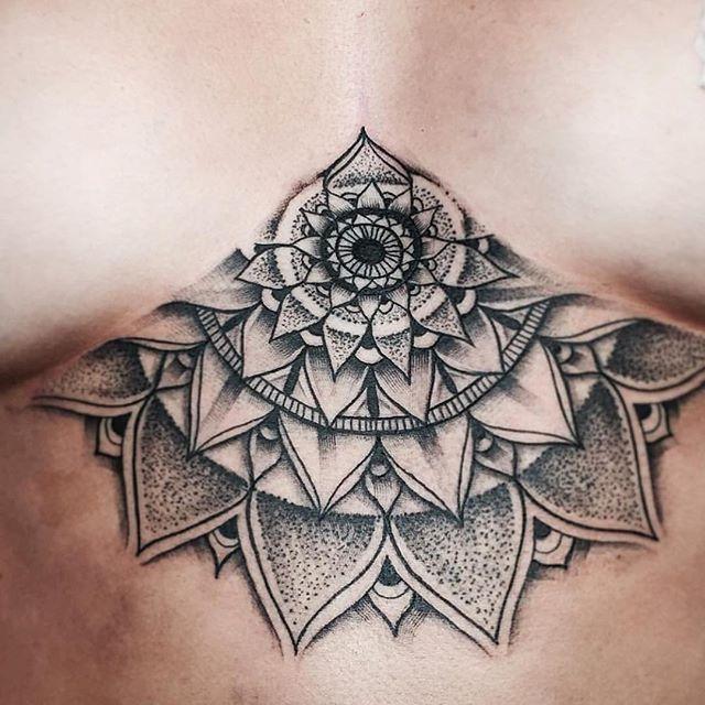 Best 25+ Mandala Sternum Tattoo Ideas On Pinterest