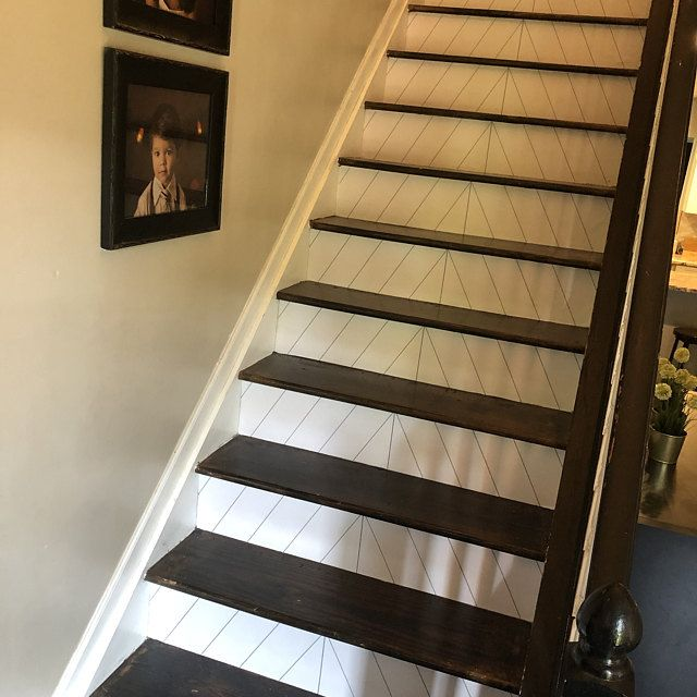 Stair Riser Vinyl Strips Removable Sticker Peel Stick For 15 Etsy In 2020 Stair Riser Vinyl Stair Risers Tile Design