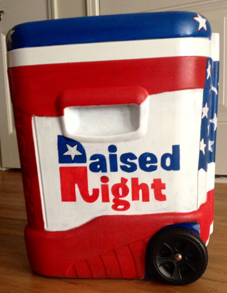 Raised Right painted cooler #republican #GOP #elephant