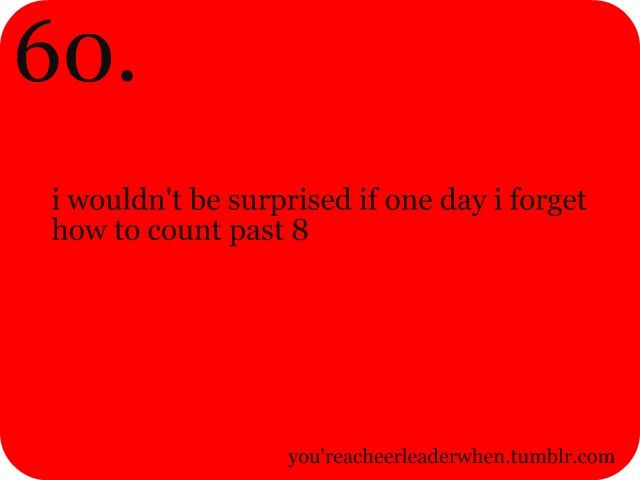 Loool, I know for sure I'll never forget 1-8 though.