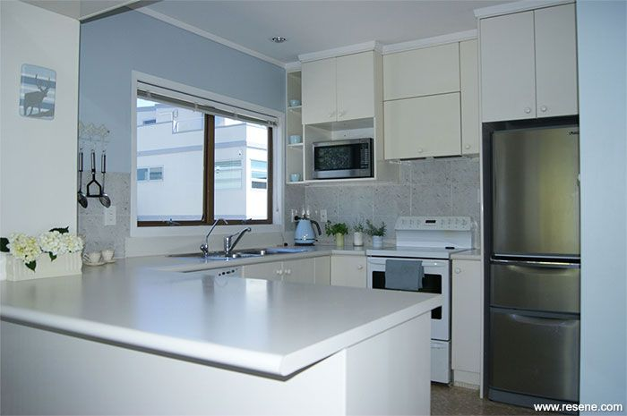 A new colour scheme has given the kitchen a homely classy ambience