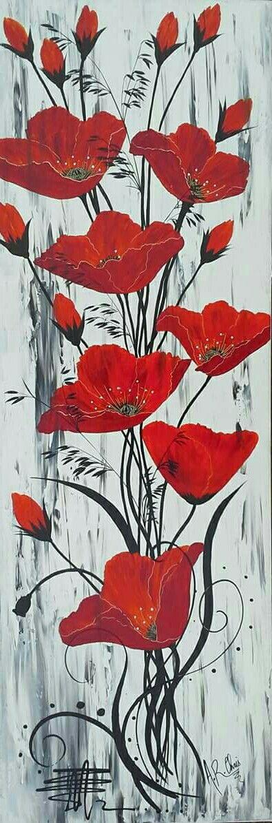 Peinture acrylique sur toile 120x40 By Raffin Christine Facebook : L'étoile de Chris