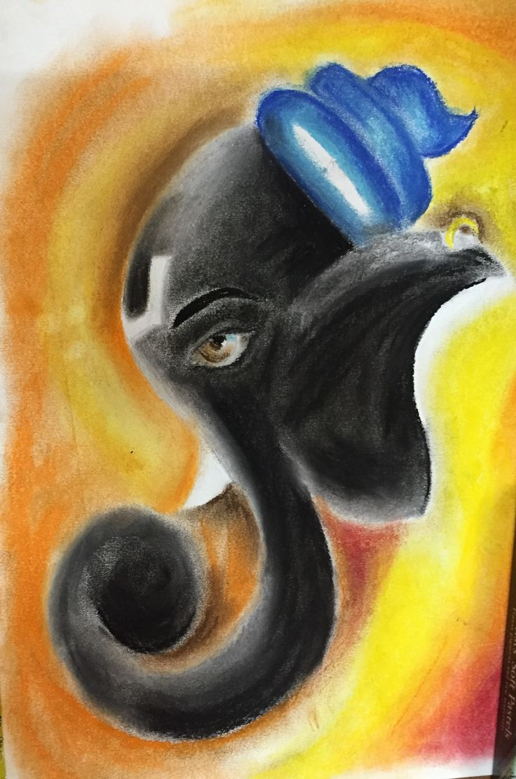 My new creation Lord Ganesha...soft pastel