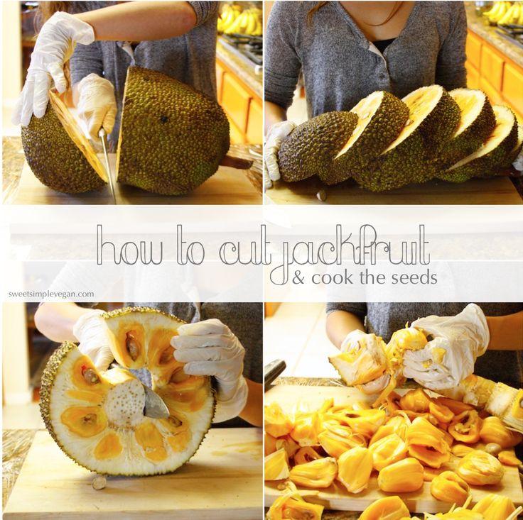 How To Cut Jackfruit and Cook Jackfruit Seeds! (With Photos)
