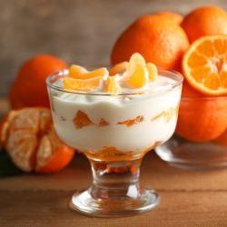 Entremets Mousse boisson hyperprotéinée coco mandarine ✰ Dolce Mousse Bevanda cocco mandarino ✰ Dulce Mousse bebida coco mandarina